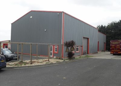 Modern warehouse within Dodnor Industrial estate