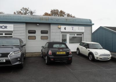 Modern end-terrace workshop, incorporating two internal offices and storage