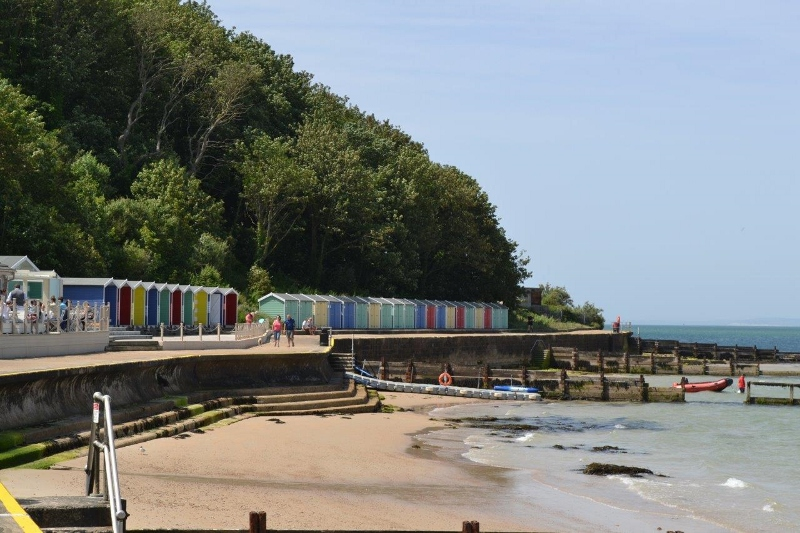 A choice of beach huts, available to lease or to buy, in this popular seaside location.