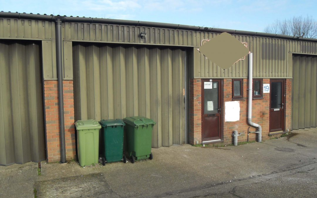A mid-terrace workshop unit of some 800ft² (74.32m²) – available now on a new lease to suit a variety of uses (not motor trade)