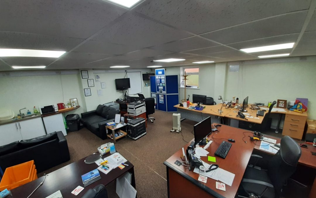A comfortable serviced office facility within the main central complex at Gurnard Pines.