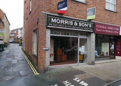 A lock-up shop of some 400ft² (37.2m²) – available to lease, only due to the current tenant's relocation plans.