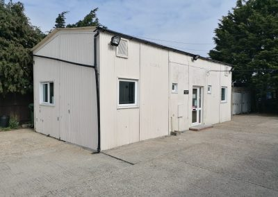 An unusual opportunity to lease this small office building, standing in a useful enclosed yard.