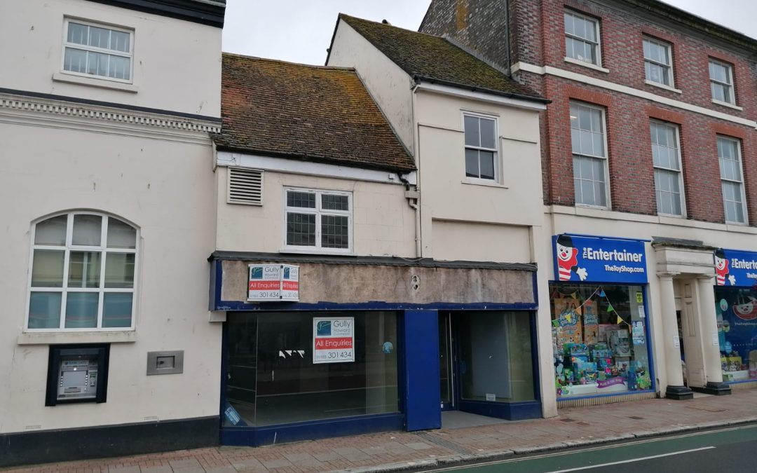 A Town Centre premises with upper parts and potential for development.
